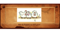 Met de kippen op stok gaan