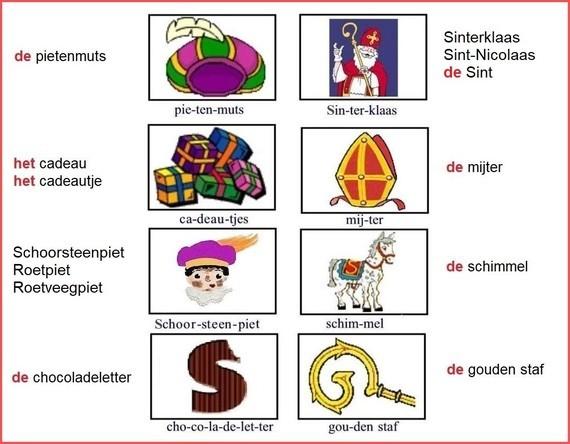 Woordkaart - Sinterklaas (1)