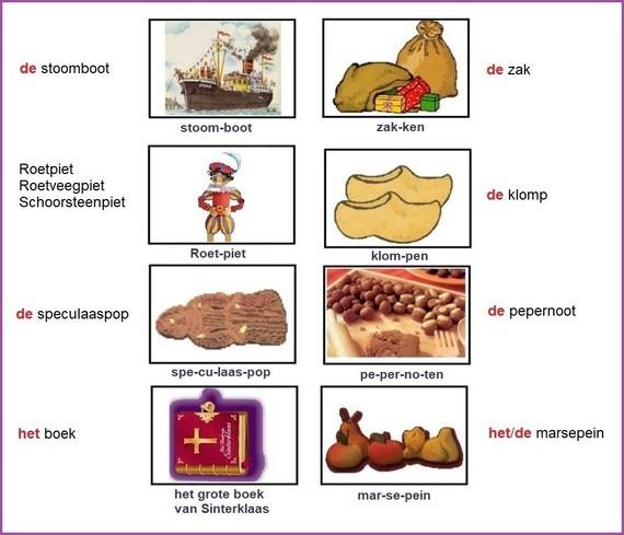 Woordkaart - Sinterklaas (2)