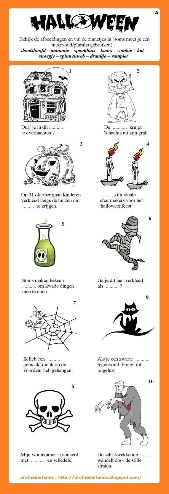Halloween (woordenschatoefening) [1]