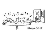 Als de kat van huis is, dansen de muizen op tafel.