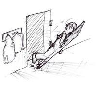Met de deur in huis vallen