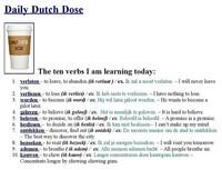 Daily Dutch Dose : 10 Nederlandse werkwoorden