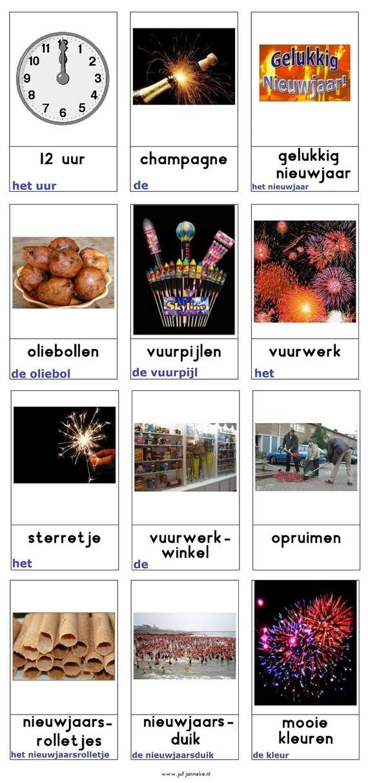 Woordkaarten : Nieuwjaar