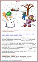 Woordenschatoefening : winter en sneeuw