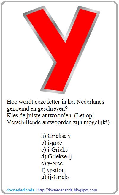QUIZ : de digraaf IJ (combinatie van de letters I en J)