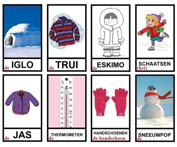 Winter - woordenschat (a)