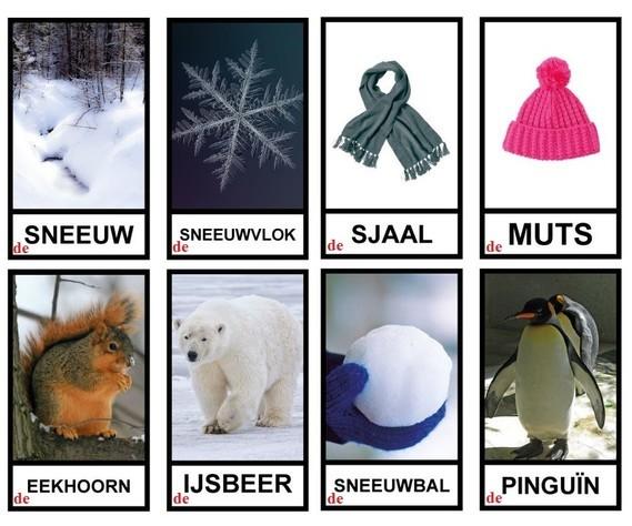 Winter - woordenschat (b)