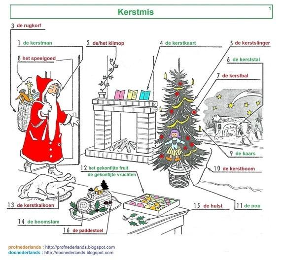Woordenschat : Kerstmis (1)