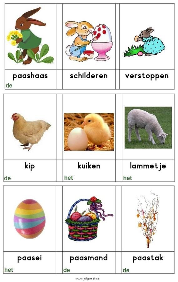 Woordkaarten: Pasen