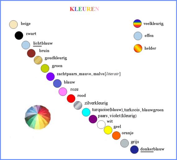 KLEUREN / COLOURS & COLORS / COULEURS / FARBEN / COLORI