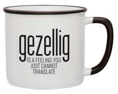 GEZELLIG : moeilijk te vertalen / mug