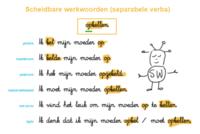 Scheidbare werkwoorden (separabele verba) : voorbeelden