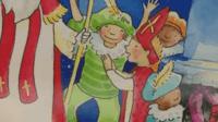 Sinterklaas en zijn Pietjes