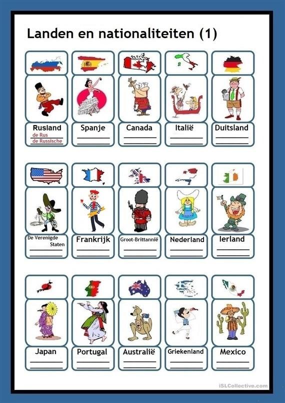 Landen en nationaliteiten (1)