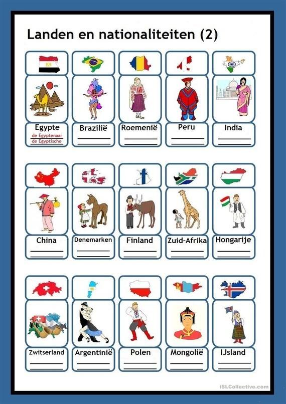 Landen en nationaliteiten (2)