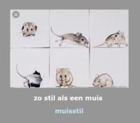 Zo stil als een muis (tegeltjes)