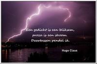 Een gedicht is een bliksem, proza is een stroom ... (Hugo Claus)