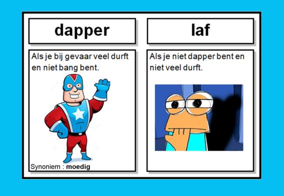 dapper >< laf (tegengestelden, antoniemen)
