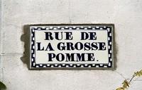 Rue de la Grosse Pomme (plaque), MONS / BERGEN