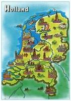 Toeristische kaart van Nederland / Tourist map of the Netherlands