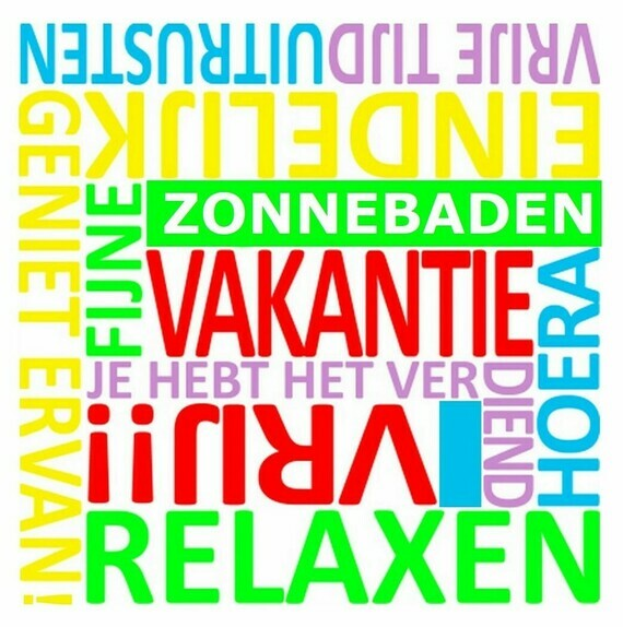 VAKANTIE (tekstbord, poster)