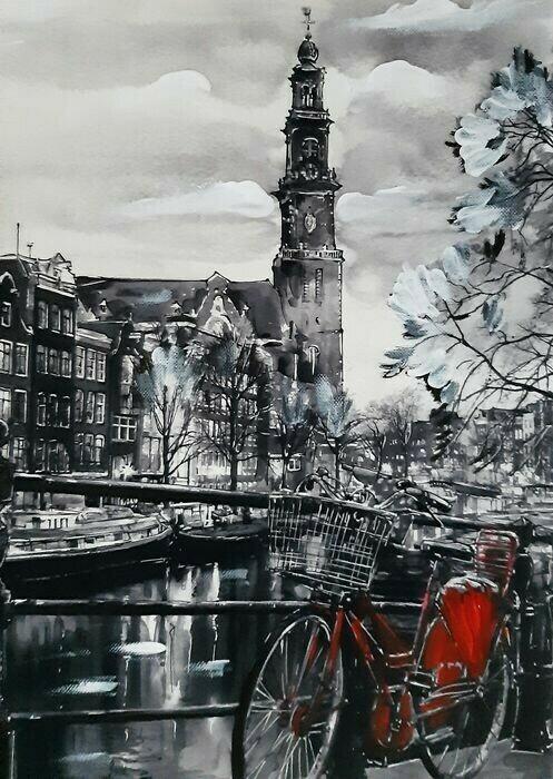 Elena Polyakova - Prinsengracht in Amsterdam