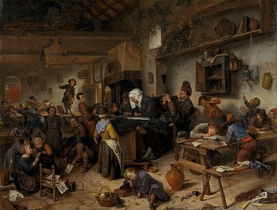 De dorpsschool, Jan Steen (1670)