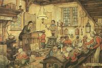 Anton Pieck, kalenderplaat, oude school