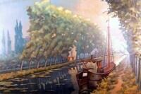 Damse Vaart met schip, Antoon Devaere
