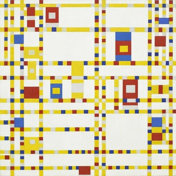 Piet Mondrian, Broadway Boogie Woogie, 1942