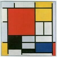 Piet Mondriaan, Compositie met groot rood vlak, geel, zwart, grijs en blauw, 1921