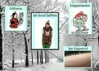 In de winter / In the winter / En hiver / Im Winter / In inverno (woordenschat)