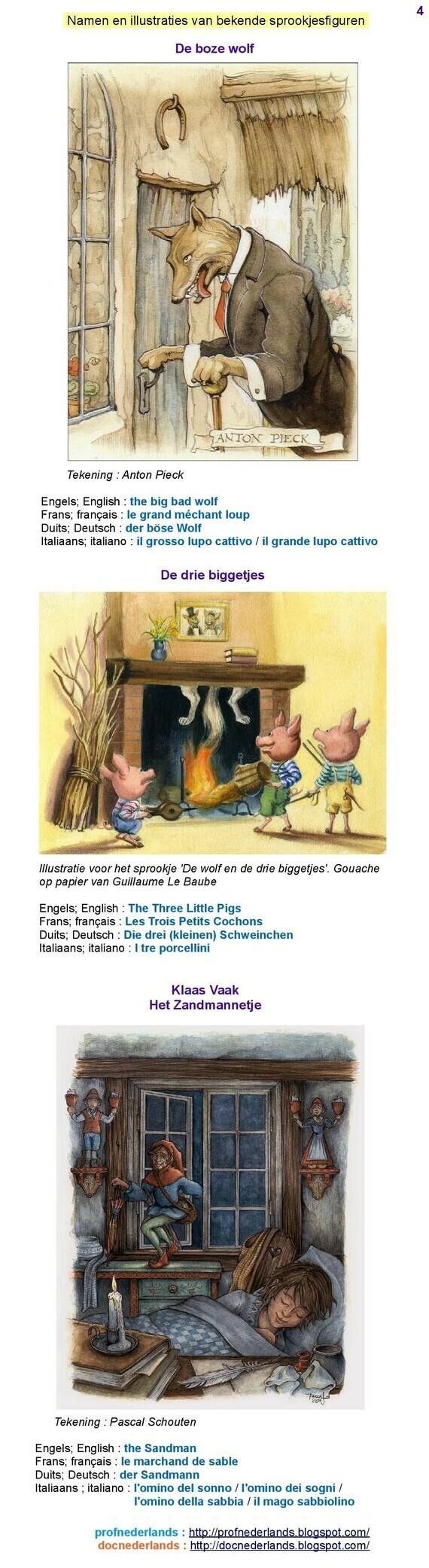 Namen van sprookjesfiguren (4)
