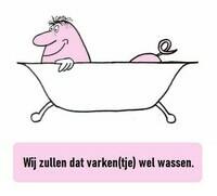 Wij zullen dat varken(tje) wel wassen (← het varkentje wassen)