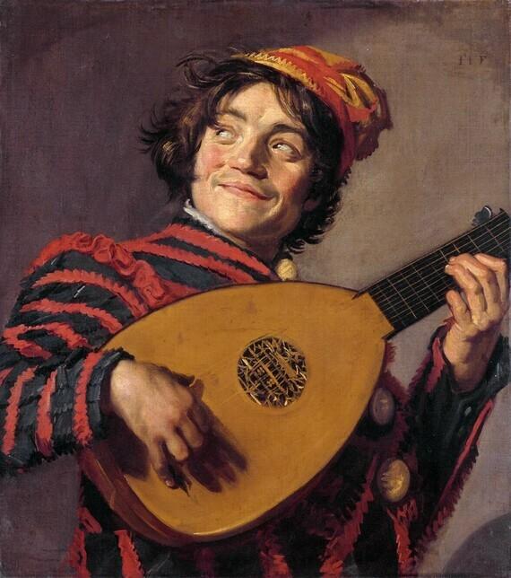 Frans Hals, Luitspelende nar