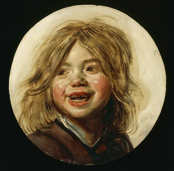 Frans Hals, Laughing Child, c.1620-1255 (oil on wood)