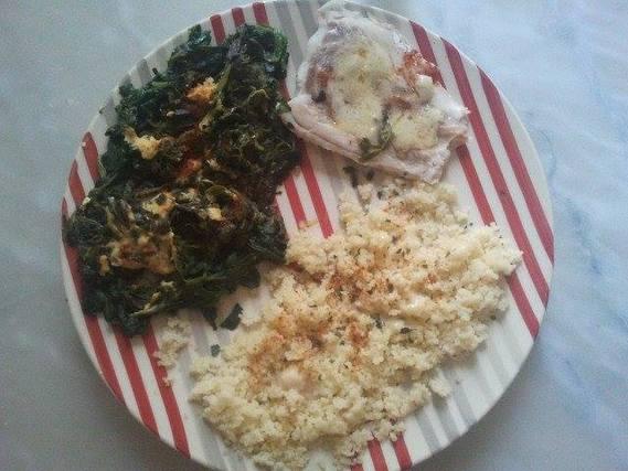 Midi (filet cabillaud, épinards, semoule et sauce beurre-blanc)