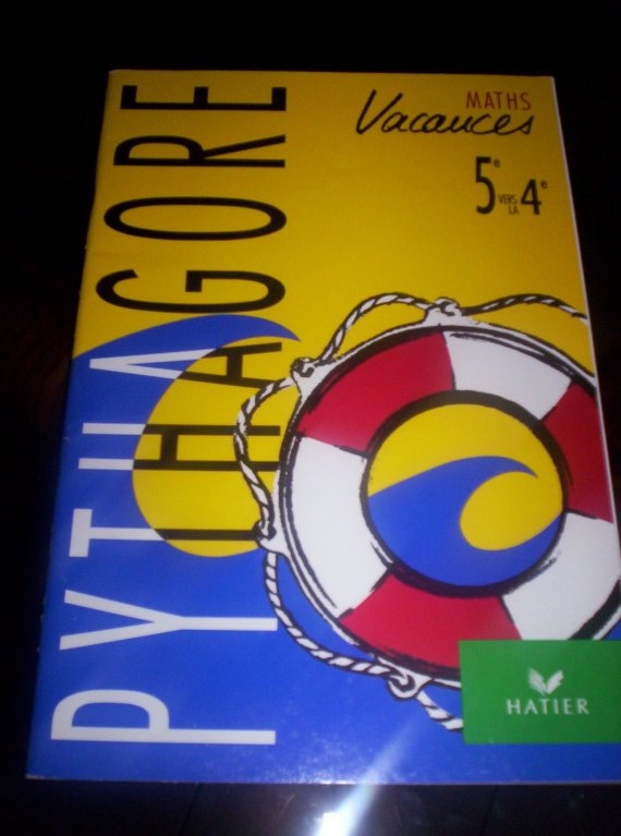 cahier de vacances HATIER math de la 5eme a la 4eme 2€