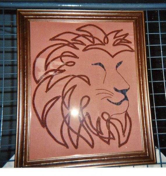 tableau le Lion de Cécile