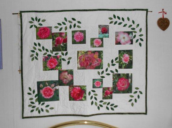 Jardin de roses(modèle d'appliqués)