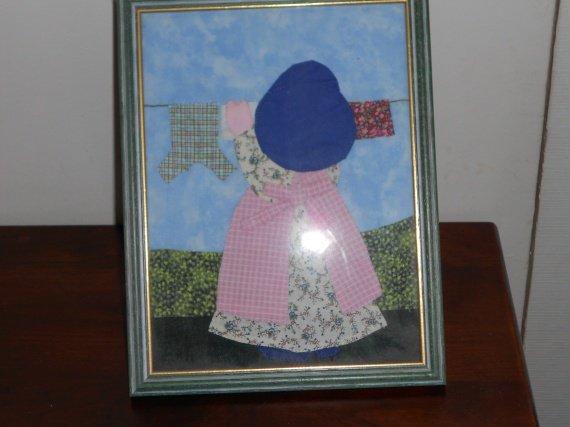 Sun Bonnet( la lessive)(patchwork appliqué)