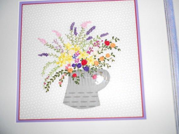 Bouquet ( broderie aux rubans)