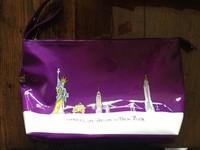 Grande Trousse de toilette vernis violet NEW YORK 5€