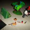 Playmobil 5438 motard camping  Complet 10€