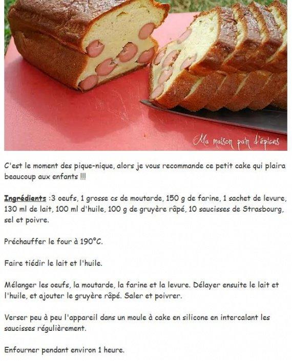 Le cake hot-dog de Sophie Dudemaine_recette