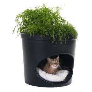 niche pour chat et pot de fleurs_zooplus_99E