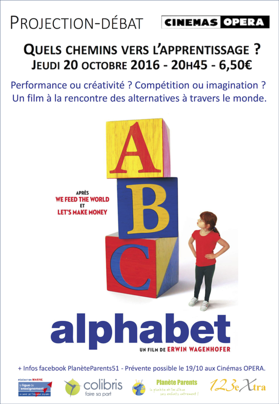 Affiche projection débat Alphabet 20:10 Bd
