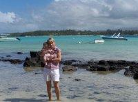 plage de Blue Bay avec maman