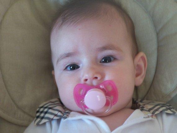 Mayleen à 4 mois